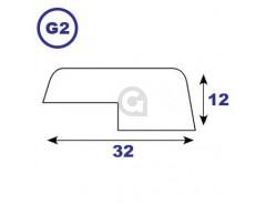 Opdeklat 12x32mm sponning 5x16mm