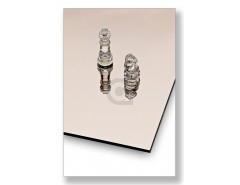 Veiligheidsspiegel 4 mm Verzilverd brons