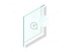 Enkel glas 4 mm Etsglas/Satijnglas