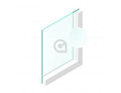 Enkel glas 8 mm Etsglas/Satijnglas