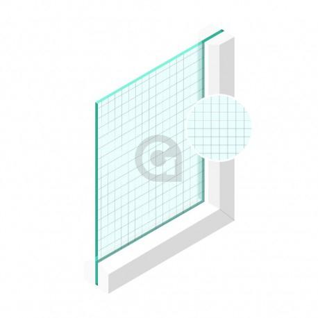 Spiegeldraadglas 6/7 mm