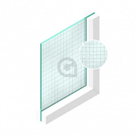 Draadglas Engels 6/7 mm