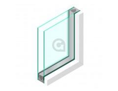 Dubbel glas 6 mm - sp - 4mm