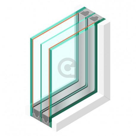 Triple glas HR+++ - 44.2 matte folie - sp - #4mm - sp - #44.2
