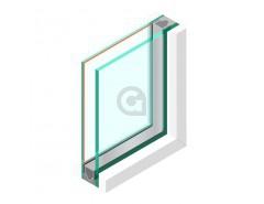 Dubbel glas HR++ 44.2 - sp - #4mm