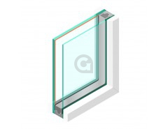 Dubbel glas HR++ 6 mm - sp - #44.2