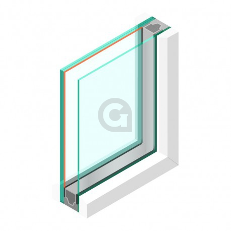 Dubbel glas HR++ 6 mm - sp - #44.2