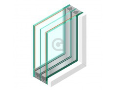 Triple glas ZHR+++ - Zonwerend 71/39 #33.1 - sp - 6mm - sp - #44.2