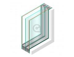 Triple glas HR+++ - Niagara mat blank 5mm - sp -#4mm - sp - #4mm