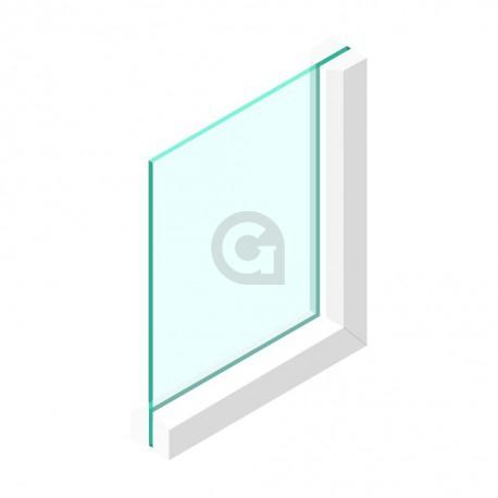 Enkel glas 8 mm Extra helder