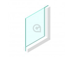 Enkel glas 10 mm Extra helder