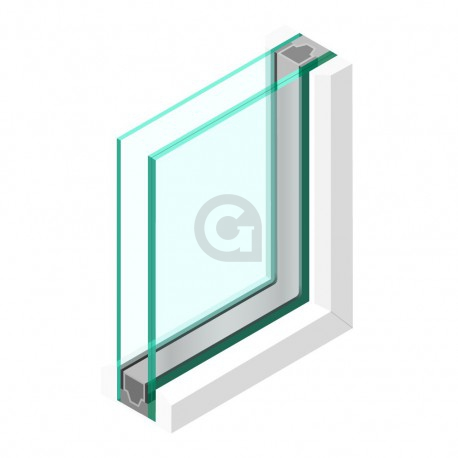 Dubbel glas 44.2 - sp - 6mm