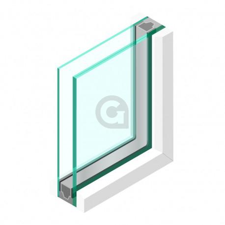 Dubbel glas 33.1 matte folie - sp - 4mm