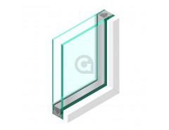 Dubbel glas 44.2 matte folie - sp - 6mm