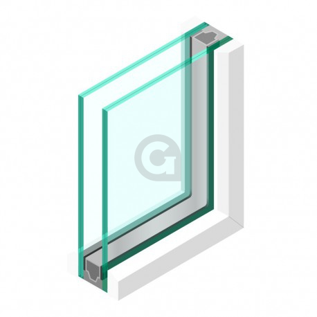 Dubbel glas 44.2 - sp - 33.2