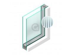 Dubbel glas Figuur Canale mat blank 4mm - sp - 4mm
