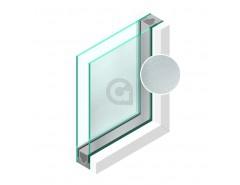 Dubbel glas Figuur Chinchilla blank 4mm - sp - 4mm