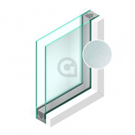 Dubbel glas Figuur Crepie blank 4mm - sp - 4mm