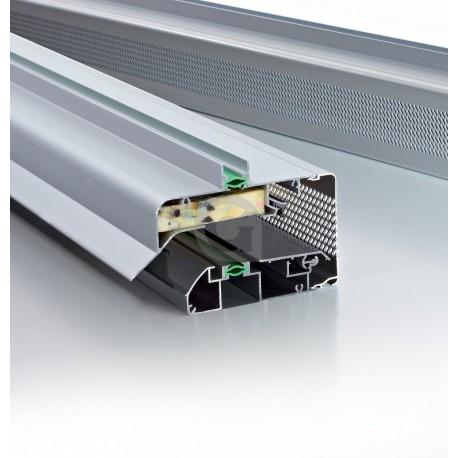 Ventilatierooster GlasMax 15 ZR Naturel / F1 (aluminium kleur)