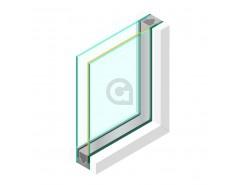 Dubbel glas ZHR++ 6mm Zonwerend 70/37 - sp - 4mm