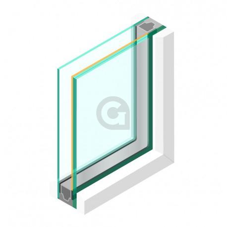Dubbel glas ZHR++ 33.2 gelaagd Zonwerend 70/37 - sp - 6mm