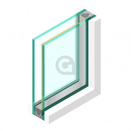 Dubbel glas ZHR++ 33.2 gelaagd Zonwerend 70/37 - sp - 44.2
