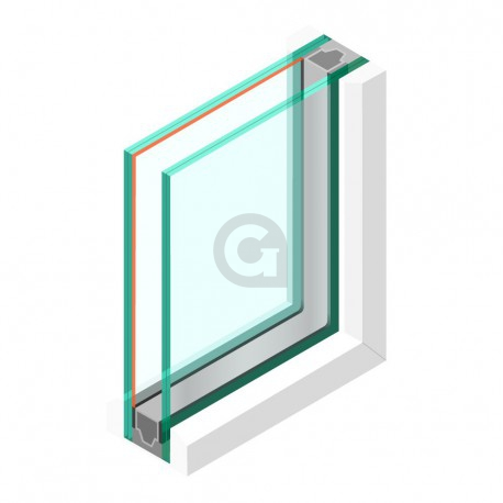 Dubbel glas HR++ 44.2 - sp - #33.1