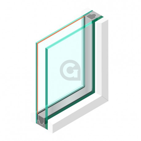 Dubbel glas HR++ 33.2 - sp - #4mm
