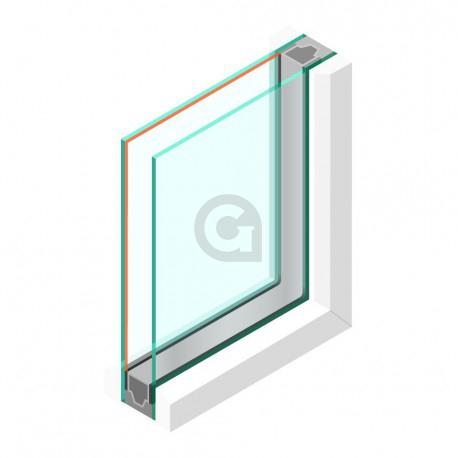 Dubbel glas HR++ 6 mm - sp - #6mm