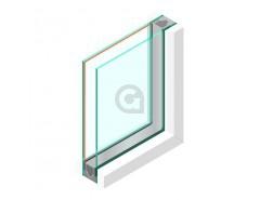 Dubbel glas HR++ 4 mm - sp - #4mm