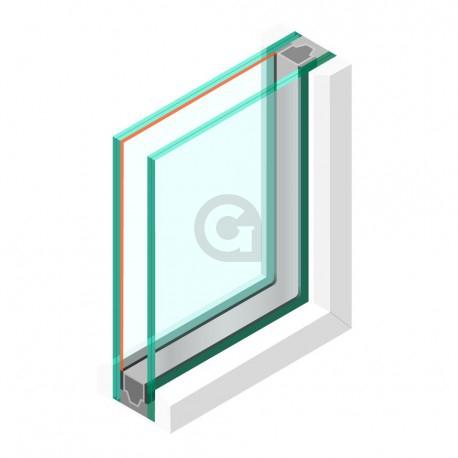 Dubbel glas Geluidswerend HR++ 44.2 - sp - #44.2 Rw (C;Ctr) - 42 (-1; -5)