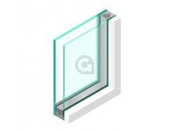 Dubbel glas Brandwerend 4 mm - sp - Pyrobelite 12 Binnentoepassing