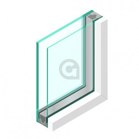 Dubbel glas Brandwerend 4 mm - sp - Pyrobelite 7 Binnentoepassing