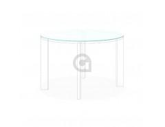Tafelblad rond 6mm gehard Etsglas/Satijnglas