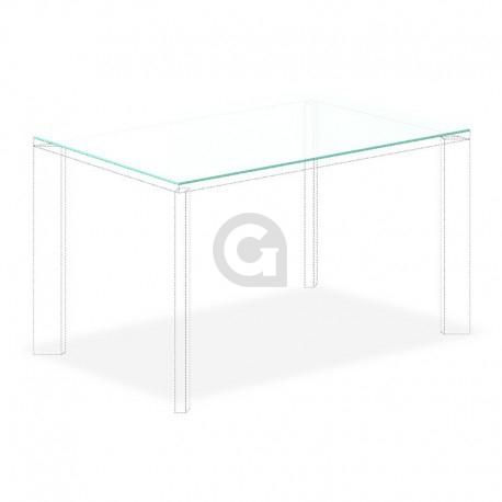 Tafelblad 2000x1000mm 12mm Gehard Etsglas/Satijnglas