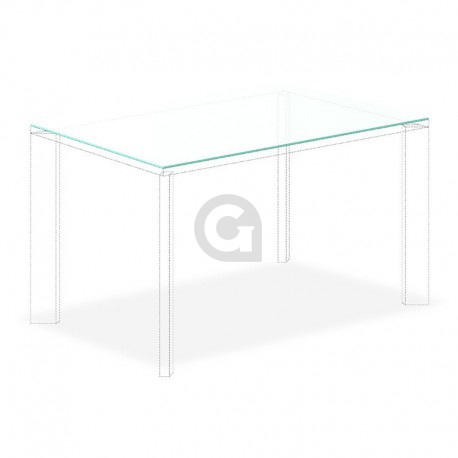 Tafelblad 2000x1000mm 8mm Gehard Etsglas/Satijnglas
