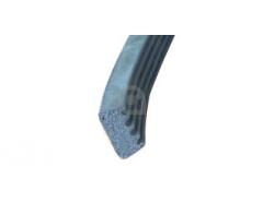Kroonband zwart 3x9 mm
