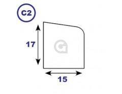 Zij- en bovenlat 17x15mm