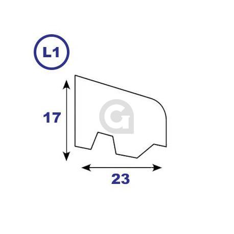 Geventileerde onderlat 17x23mm