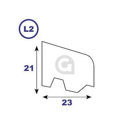 Geventileerde onderlat 21x23mm