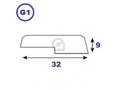Opdeklat 9x32mm sponning 3x16mm