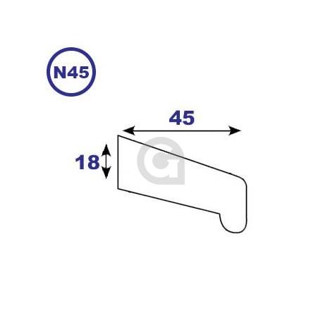 Neuslat 18x45mm
