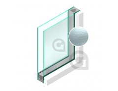 Dubbel glas Figuur Cathedraal blank 4mm - sp - 4mm